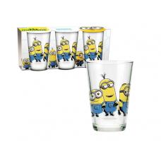 Set 3 pahare sticla Minions