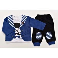 Costum baieti-albastru