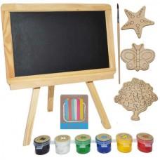 Tablita de lemn pentru colorat si pictat
