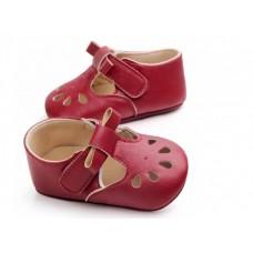 Pantofi bebelusi-model decupat-rosu