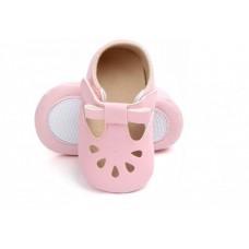 Pantofi bebelusi-model decupat-roz