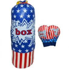 Sac de box si manusi pentru copii din PVC 39 cm