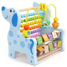 Jucarie tip Montessori,3 in 1,Numaratoare din lemn