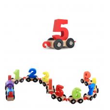 Jucarie tip Montessori,trenulet cu numere,dimensiune 85 cm