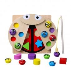 Jucarie magnetica,tip Montessori,din lemn,cu functie de sortator