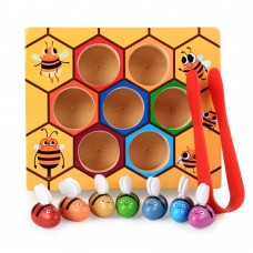 Jucarie tip Montessori,fagurele cu albinute