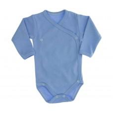 Body bumbac fibre pieptanate-albastru
