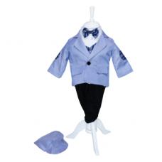 Costum bleu pentru botez, 5 piese