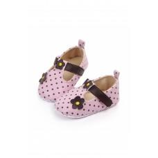 Pantofiori cu bulinute si floricica (Pantofi - Balerini)