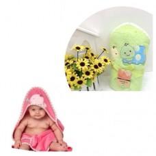 Prosop de baie cu gluga pentru bebelusi-Verde