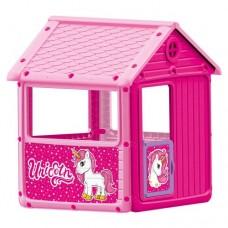 Casuta roz-Unicorn, 125x100x104cm - Dolu