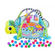 Centru de activitati premium 5 in 1 cu salteluta creativa, 4 x Jucarii Detasabile si tarc cu 30 bile Multicolore
