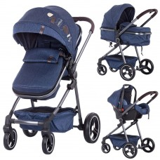 Carucior Chipolino Noah 3 in 1,material denim