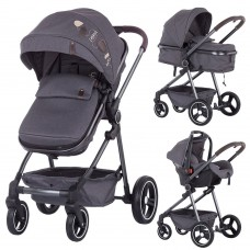 Carucior Chipolino Noah 3 in 1,material denim gri