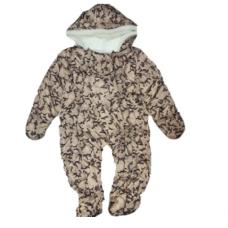 Combinezon bebe, termic,bej cu model