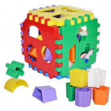 Cub centru activitati forme geometrice Dohany Toys 18 pc