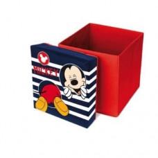 Cutie taburet depozitare jucarii Mickey Mouse 31x31x33