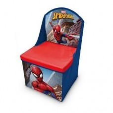 Cutie 2 in 1,Depozitare jucarii si scunel cu spatar,Spiderman