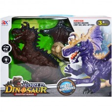 Dragon,Dinozaur inaripat cu baterii si 3 oua, 32x40x29,5 cm