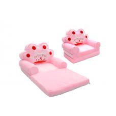Fotoliu Princess Plush 85x45x40cm, roz