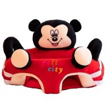 Fotoliu bebe din plus cu spatar si suport de picioare ,Mickey Mouse