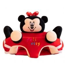 Fotoliu bebe din plus cu spatar si suport de picioare ,Minnie Mouse