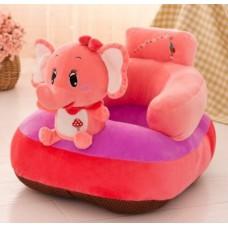 Fotoliu bebe din plus cu spatar si suport de picioare ,elefant roz