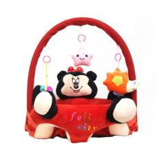 Fotoliu din plus cu spatar si centru de joaca-Minnie,Dimensiune 53 cm x 53 cm x 50 cm