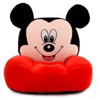 Fotoliu din plus Mickey,rosu cu negru