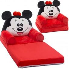 Fotoliu Minnie Mouse Plush 85x45x40cm, negru / roșu / alb