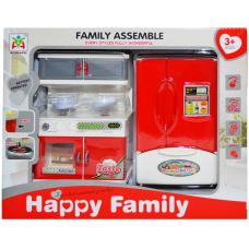 Mobilier bucatarie cu baterii-frigider dublu