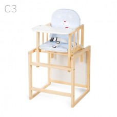 Scaun de masa multifunctional din lemn Natur C3,model 2 in 1,import Polonia