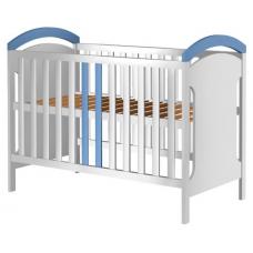 Patut copii din lemn  Hansell 120x60 cm alb-albastru