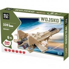 Joc constructie Blocki, Avion militar, 339 piese
