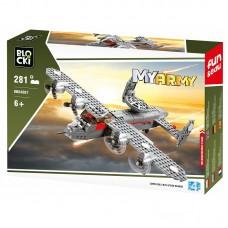 Joc constructie Blocki, Avion militar cu elice, 281 piese