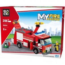 Joc constructie Blocki, Camion pompieri, 206 piese