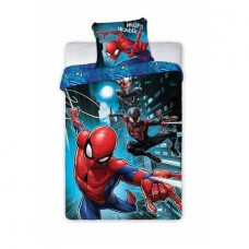 Lenjerie de pat, Spiderman, Webbed wonder, albastra, 140 x 200 cm