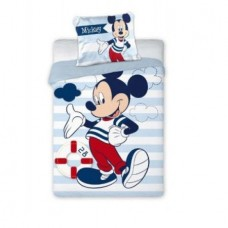 Set lenjerie patut copii Disney Mickey Mouse bleu 100x135 + 40x60