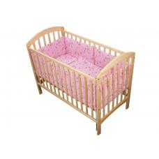 LENJERIE BUMBAC Kitty roz, 5 PIESE 120X60 CM-5 piese