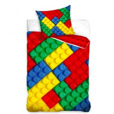 Lenjerie de pat cu 2 piese-CUBURI LEGO