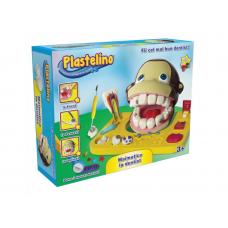Set de joaca cu plastilina, Maimutica la dentist, Plastelino