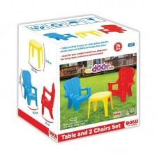 Masuta cu 2 scaunele,Multicolor