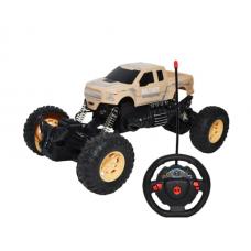 Masinuta,Jeep cu RC, AC, suspensii, 22x13x11 cm,Maro