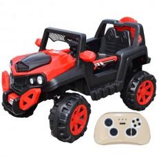 Jeep cu acumulator, RC, 2 motoare, 12V,cu telecomanda parentala, Rosie