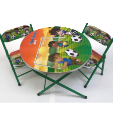 Masa cu 2 scaune,Personaje animate,Cadru metalic,50x80 cm