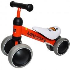 Motocicleta 4 roti, metal + plastic, Dimensiune 52x18x36 cm-Rosie