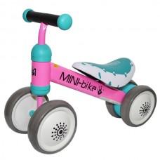 Motocicleta 4 roti, metal + plastic, Dimensiune 52x18x36 cm-Roz