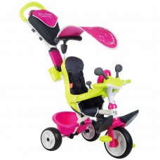 Tricicleta Smoby Baby Driver Comfort pink,Scaun ergonomic,Fara zgomot