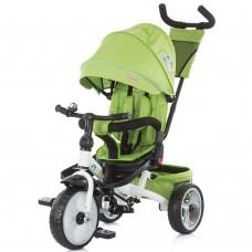 Tricicleta cu copertina si sezut reversibil spatar reglabil pentru somn,Verde