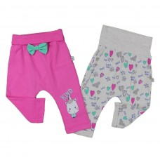 Set 2 perechi pantalonasi pentru bebelina